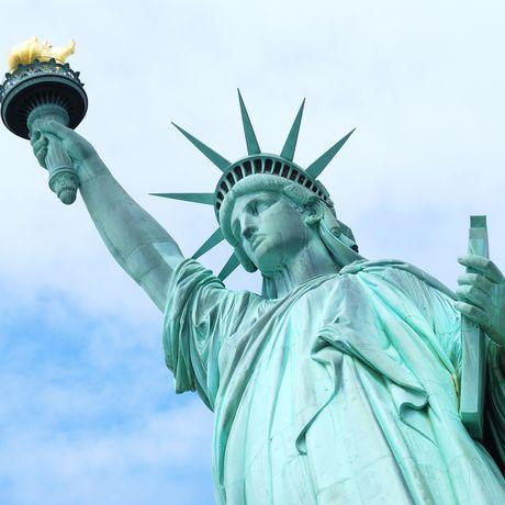 Nahaufnahme der Freiheitsstatue, New York
