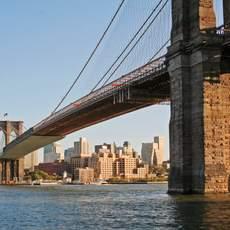 Blick auf die Brooklyn Bridge