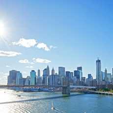 Manhattan mit der Brooklyn Bridge