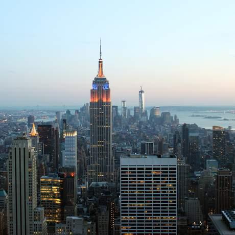 Abendlicher Blick über Manhattan