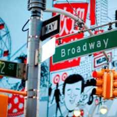 Schilder am Times Square