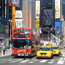 Strassenszene am Times Square