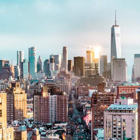 Aussicht auf Manhattan in New York City