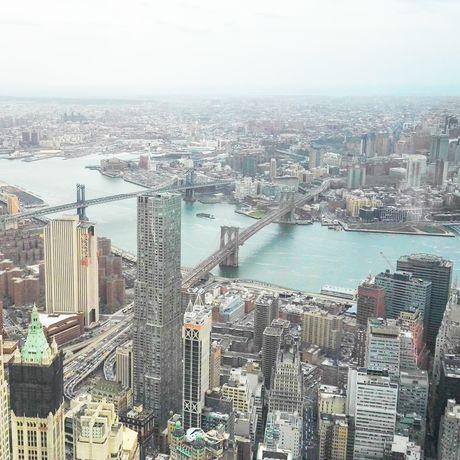 Aussicht vom One World Observatory, Manhattan, New York