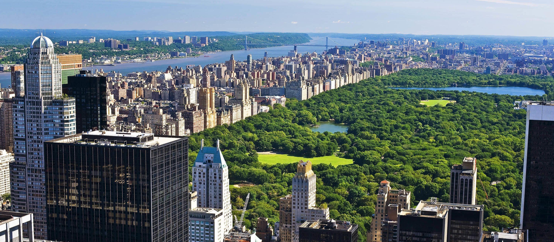 Der Blick von der Aussichtsplattform des Rockefeller Center in New York