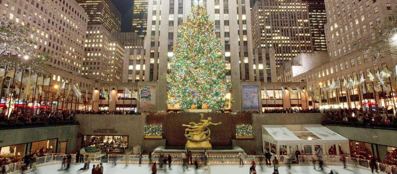Eislaufbahn am Rockefeller Center