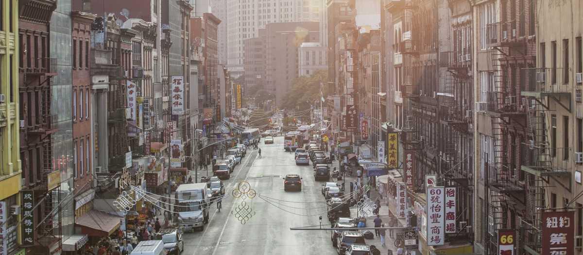 Chinatown in der Morgensonne, New York City