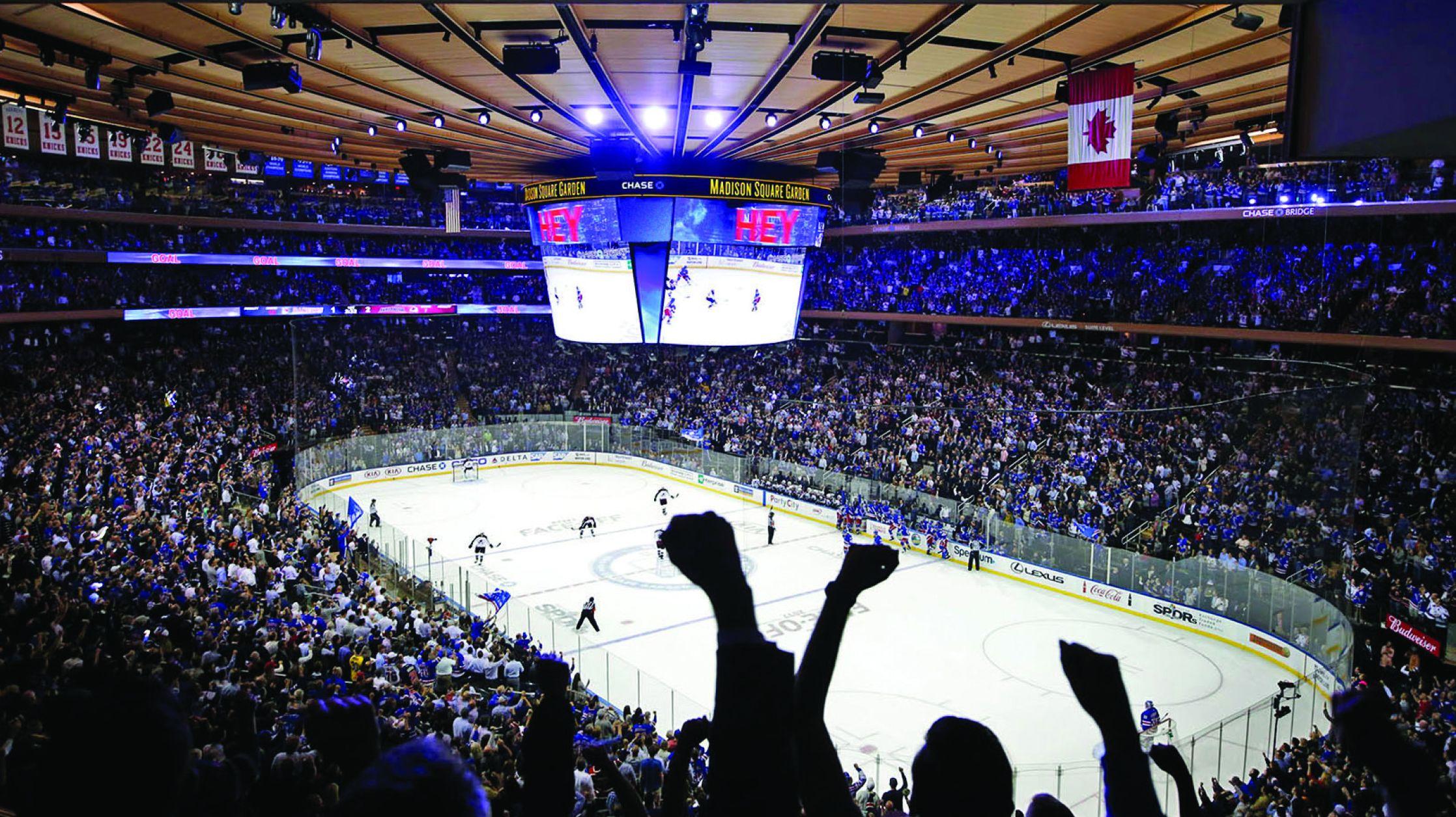 Bei einem Spiel der New York Rangers