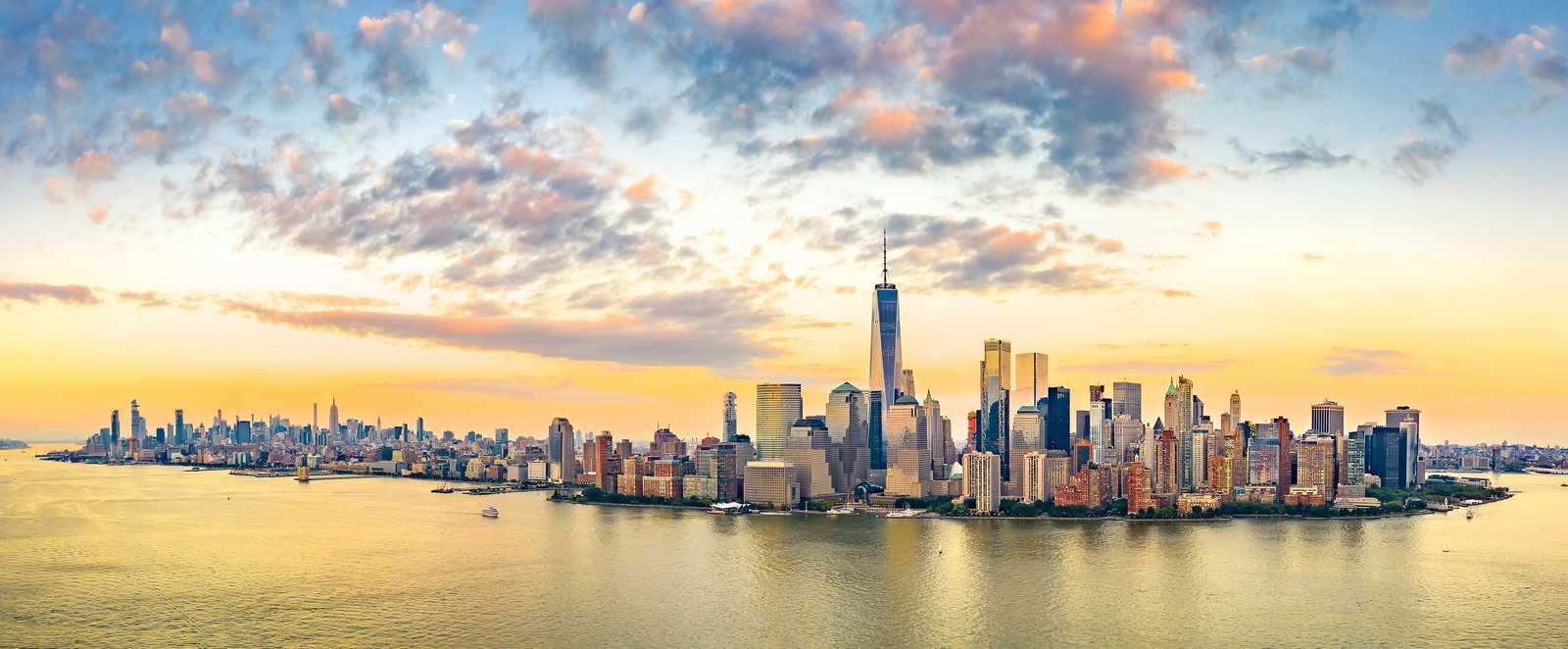 Blick auf die Skyline von Manhattan, New York City