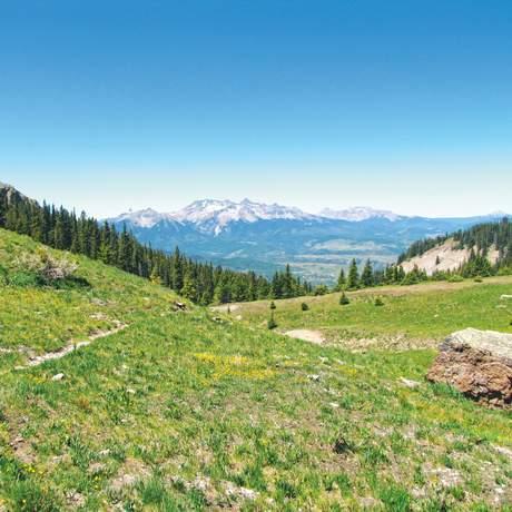 Blick auf den Mount Sneffels
