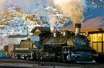 Die Durango & Silverton Narrow Gauge Railroad Lok in Colorado