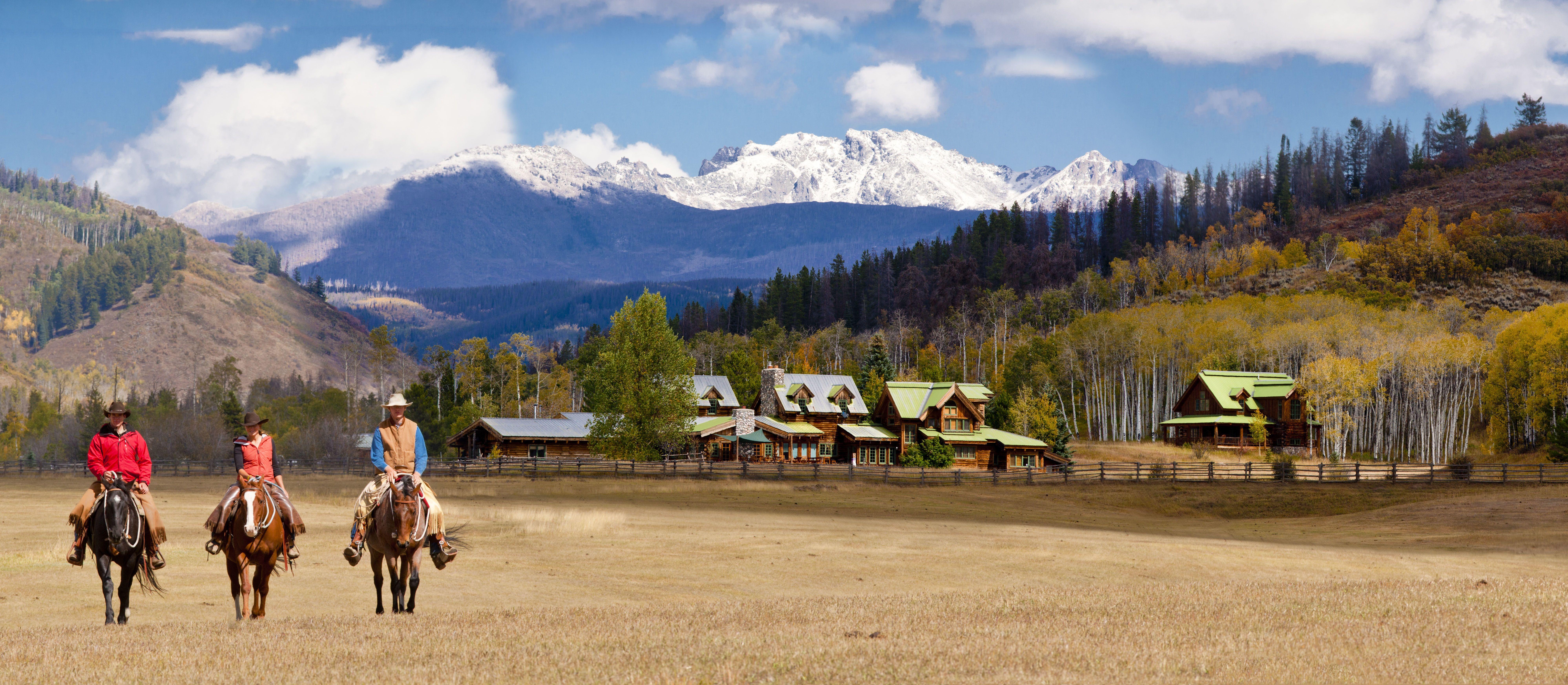Ausreiten auf der Home Ranch in Clark, Colorado