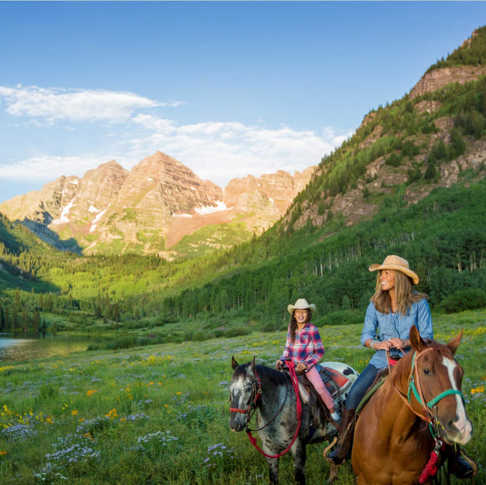 Reiten in Maroon Bells, Colorado
