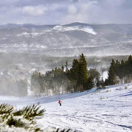 Peak 8 im Schneegestöber bei Breckenridge