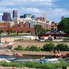 Locals and visitors can kayak right in downtown Denver's own backyard.