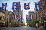 geschmückter Larimer Square, Denver