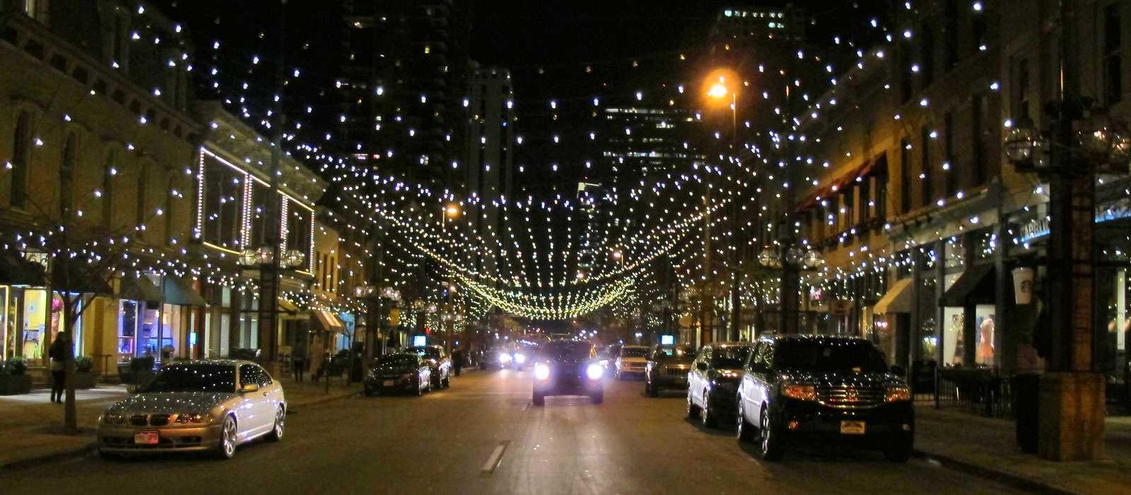 Larimer Square bei Nacht