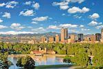 Die Skyline von Denver in Colorado