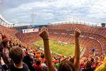 Football Spiel der Broncos in Denver