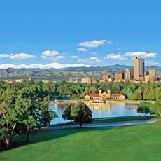 Blick auf die Skyline von Denver