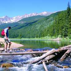 Wandern durch die Gore Range in Colorado
