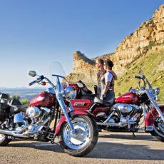 Biker am Mesa Verde National Park