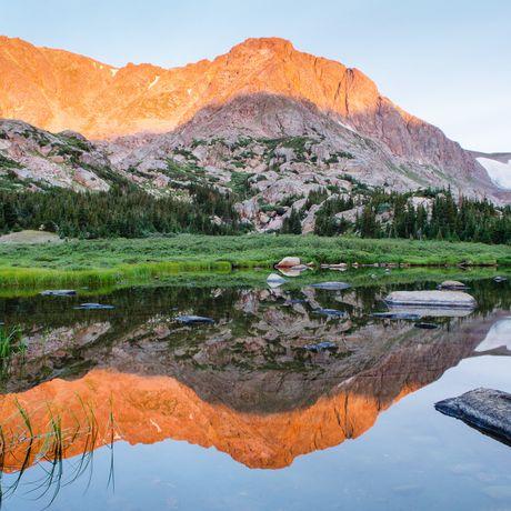 Reflektion im Rocky Mountain National Park, Colorado