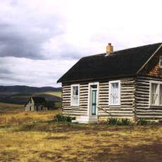 An early Mormon settlement along the Oregon Trail founded in 1881. Now unoccupied, 27 structures remain on an open prairie near Bancroft.