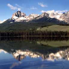 One of the most picturesque lakes in the Sawtooth National Recreation Area near Stanley.