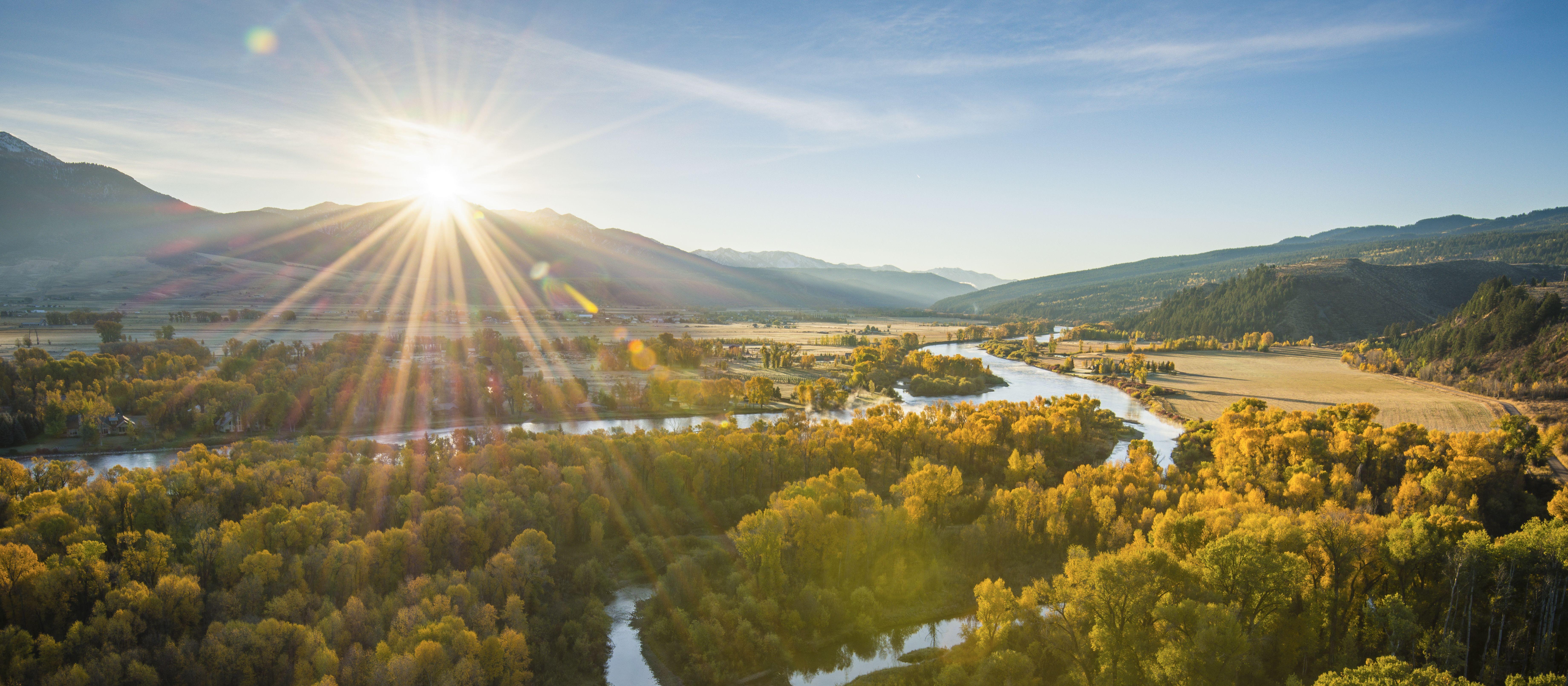 Die Südgabel des Snake Rivers in der Nähe von Swan Valley in Idaho