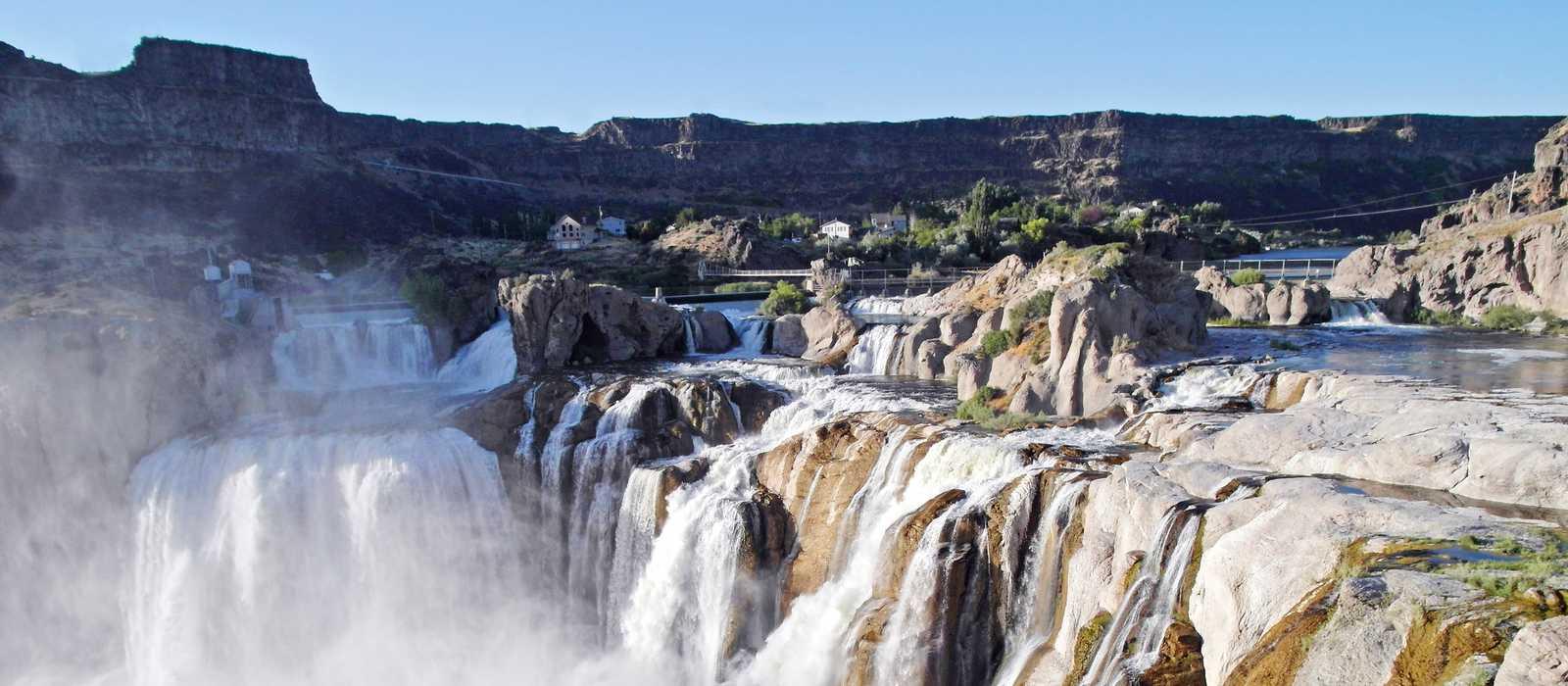 Blick auf die Shoshone Falls
