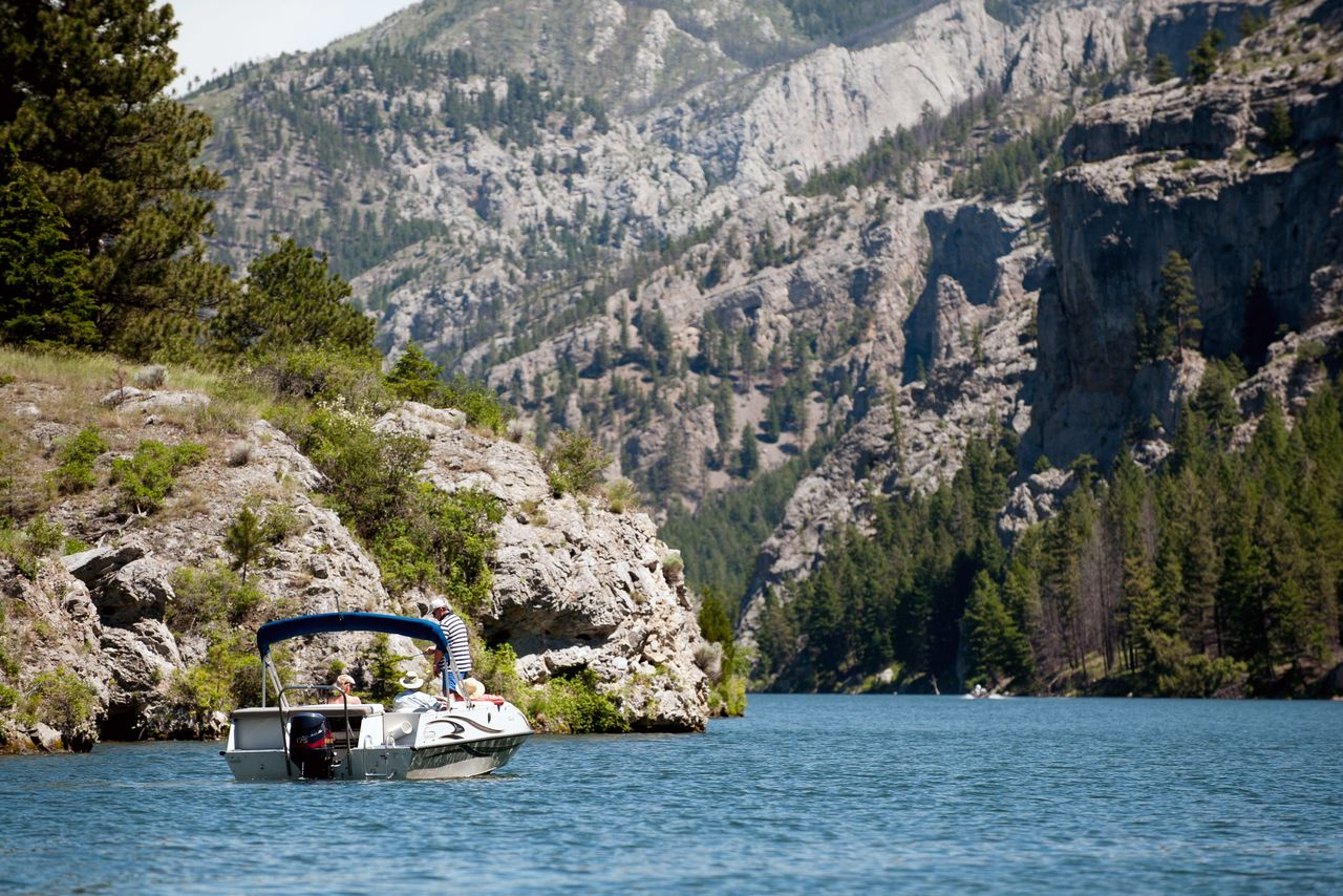 Boating on the Missouri River, Gates of the Mountains area
