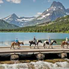 Swiftcurrent Lake, im Glacier Nationalpark, Montana