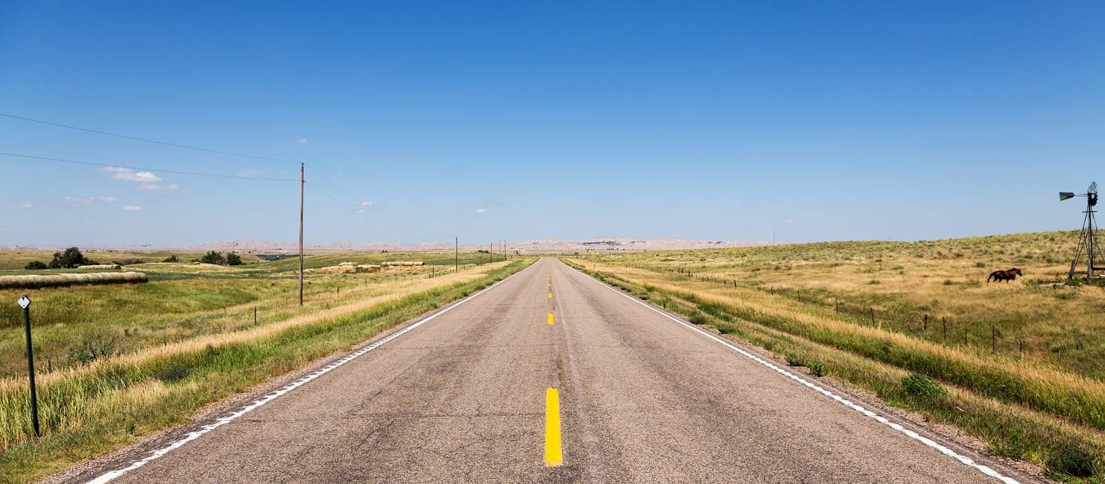 Straße durch Nebraska