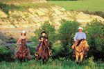Ausritt im Bundesstaat North Dakota in den Rocky Mountain Staaten