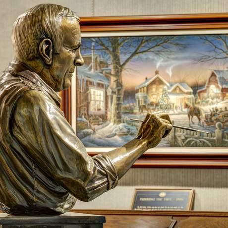 Eine Statue von Terry Redlin im Terry Redlin Center in South Dakota
