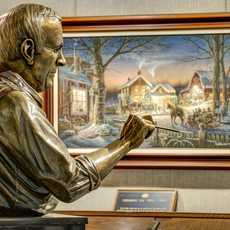 Eine Statue von Terry Redlin im Terry Redlin Center in South Dakota