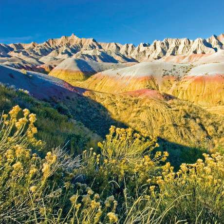 Landschaft im Badlands National Park