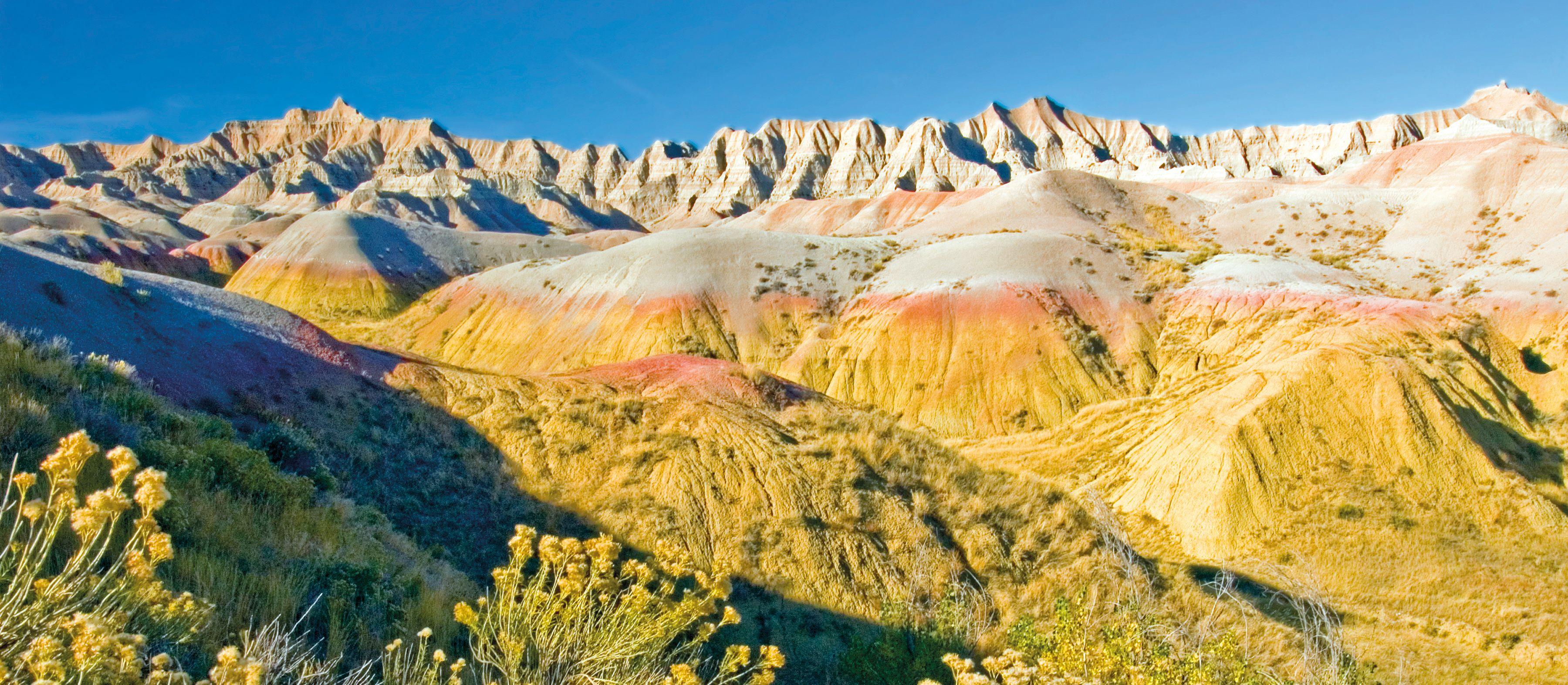 Landschaft im Badlands National Park