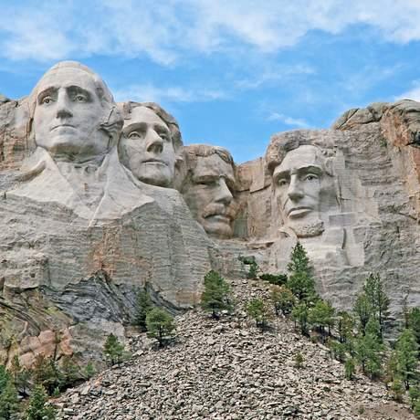 Blick auf Mount Rushmore