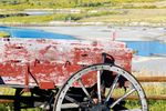 Alter Holzwagen im Grand Teton National Park