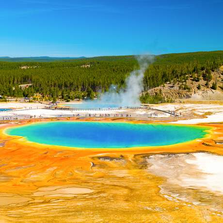 Grand Prismatic Spring, Yellowstone National Park, Wyoming