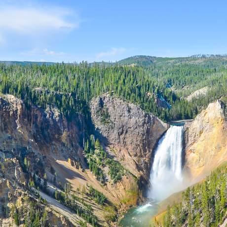 Wasserfall im Yellowstone National Park, Wyoming