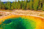 Der imposante Morning Glory Pool im Yellowstone National Park, US-Bundesstaat Wyoming