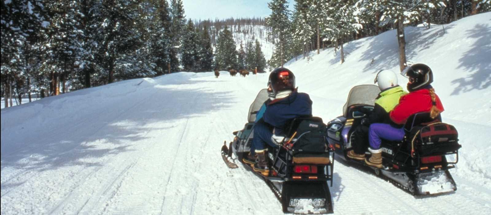 Die Schneemobil-Tour