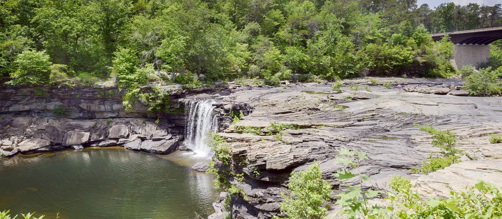 Kleiner Wasserfall nahe Gaylesville, Alabama