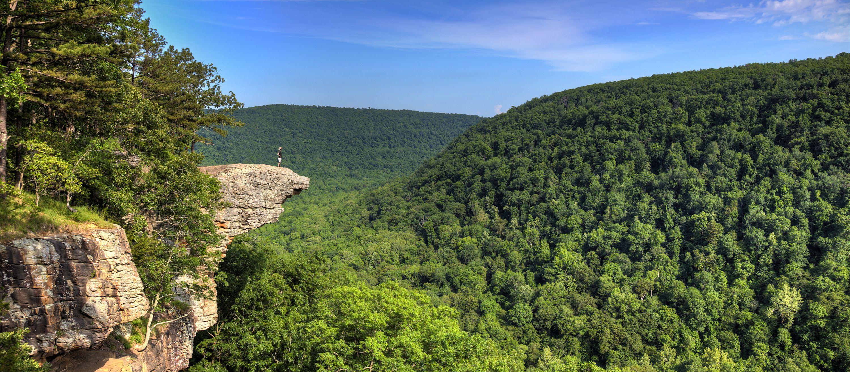 Wanderer auf dem Hawksbill Crag