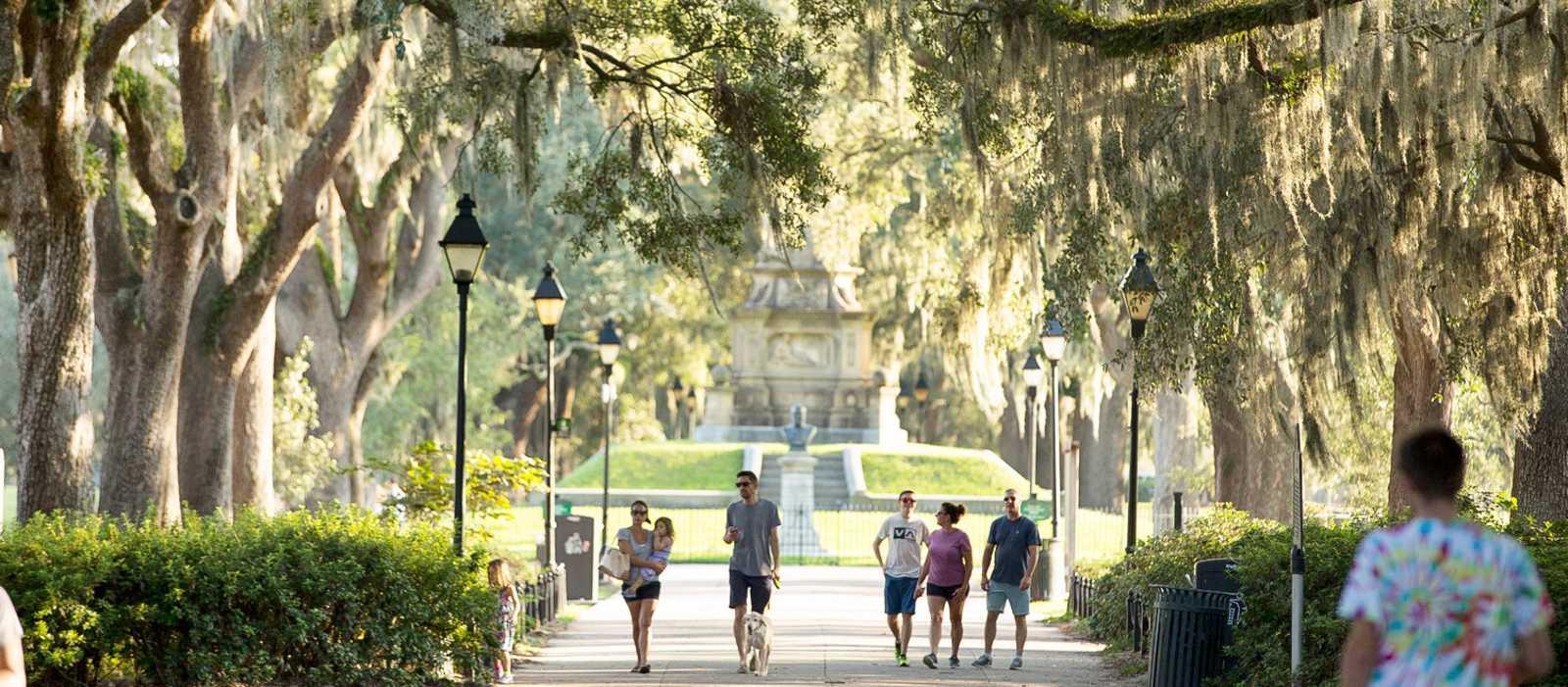 Ein Spaziergang durch den Forsyth Park in Savannah