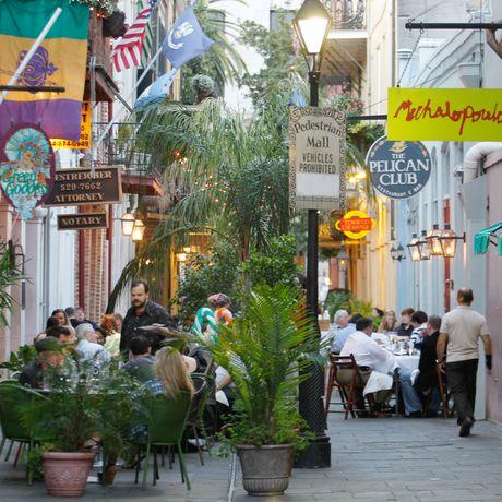 Straße im French Quarter Stadtviertel von New Orleans