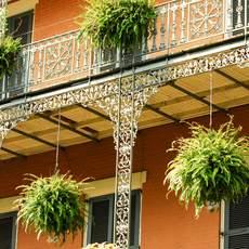 kunstvoll gearbeitetes Geländer im Stadteil French Quarter